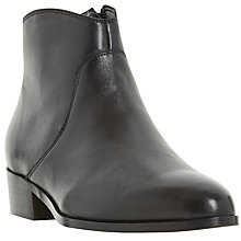 Buy Dune Pearcey Pointed Toe Ankle Boots, Black Online at johnlewis.com