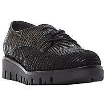 Buy Dune Future Lace Up Flatform Brogues, Black Online at johnlewis.com