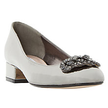 Buy Dune Beebie Jewelled Block Heeled Court Shoes Online at johnlewis.com