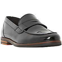 Buy Dune Gem Slip On Loafers, Black Patent Online at johnlewis.com