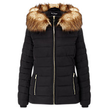 Buy Miss Selfridge Quilted Puffer Coat, Black Online at johnlewis.com