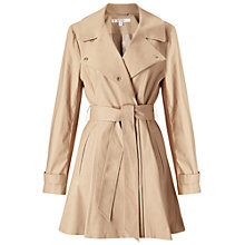 Buy Miss Selfridge Petite Fitted Coat, Camel Online at johnlewis.com