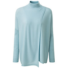 Buy Pure Collection Hambleton Wrap Front Cashmere Poncho, Duck Egg Online at johnlewis.com