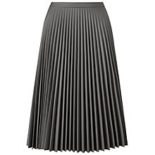 Buy Miss Selfridge Faux Leather Midi Skirt, Grey Online at johnlewis.com