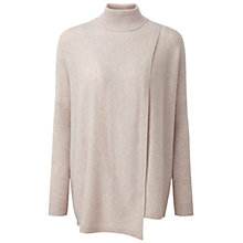 Buy Pure Collection Keats Wrap Front Cashmere Poncho, Marble Online at johnlewis.com