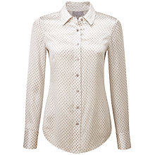 Buy Pure Collection Pure Silk Jasmine Blouse, Silver Diamond Print Online at johnlewis.com