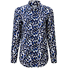 Buy Pure Collection Keble Silk Blouse, Blue Online at johnlewis.com