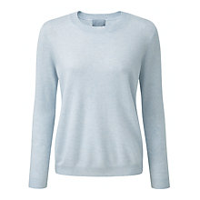Buy Pure Collection Beulah Cashmere Jumper, Frost Blue Online at johnlewis.com