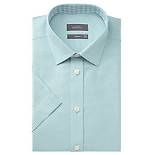 Buy John Lewis Polka Dot Regular Fit Short Sleeve Shirt, Aqua Online at johnlewis.com