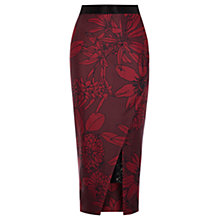 Buy Coast Beattie Pencil Skirt, Merlot Online at johnlewis.com