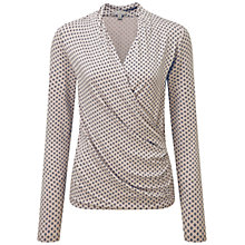 Buy Pure Collection Carla Jersey Wrap Top, Navy Diamond Print Online at johnlewis.com