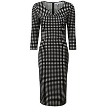 Buy Pure Collection Sawyer Jacquard Dress, Black/White Online at johnlewis.com