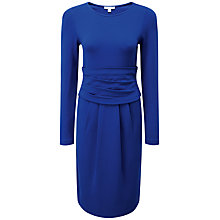 Buy Pure Collection Maria Gathered Dress, Sapphire Blue Online at johnlewis.com