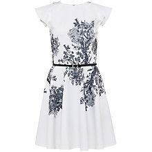 Buy Ted Baker Yee Illustrated Elegance Skater Dress, White Online at johnlewis.com