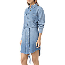 Buy AllSaints Xena Denim Dress, Indigo Blue Online at johnlewis.com