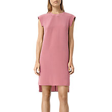 Buy AllSaints Tonya Dress, Mauve Pink Online at johnlewis.com