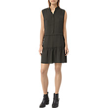 Buy AllSaints Lin Dress, Dark Khaki Online at johnlewis.com