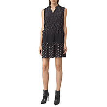 Buy AllSaints Lin Flic Silk Dress, Black Online at johnlewis.com