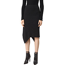 Buy AllSaints Keld Skirt, Cinder Black Marl Online at johnlewis.com