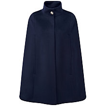 Buy Pure Collection Alaina Wool Cape, Navy Online at johnlewis.com