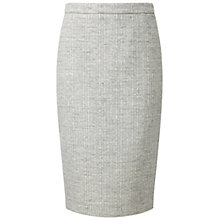 Buy Pure Collection Fewston Wool Pencil Skirt, Grey/White Online at johnlewis.com