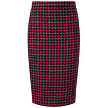 Buy Pure Collection Hampden Wool Pencil Skirt, Red Online at johnlewis.com
