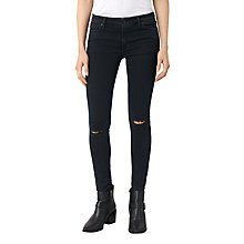 Buy AllSaints Knee Destroy Jeans, Dark Indigo Online at johnlewis.com
