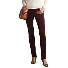 Buy Pure Collection Mara Washed Velvet Jeans, Cocoa Online at johnlewis.com