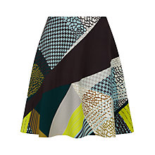 Buy Jaeger Pattern Clash Skirt, Multi Online at johnlewis.com