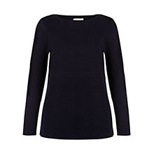 Buy Hobbs Lila Tunic Top, Navy Online at johnlewis.com