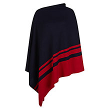 Buy Hobbs Andara Poncho, Navy/Red Online at johnlewis.com