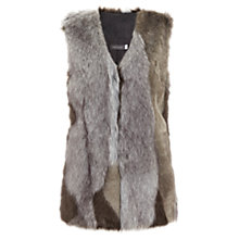 Buy Mint Velvet Patchwork Faux Fur Gilet, Grey Online at johnlewis.com