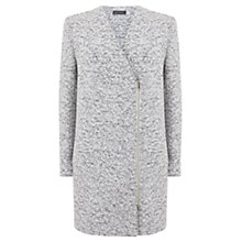 Buy Mint Velvet Textured Zip Coat, White Online at johnlewis.com