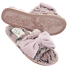 Buy Pretty You London Matilda Bow Mule Slippers, Pink Online at johnlewis.com