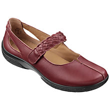 Buy Hotter Shake Woven Strap Leather Pumps, Maroon Online at johnlewis.com