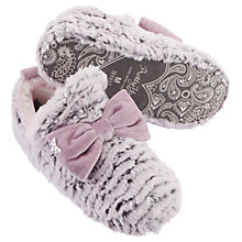 Buy Pretty You London Perrie Bow Bootie Slippers, Pink Online at johnlewis.com