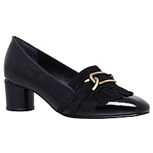 Buy Kurt Geiger Magic Court Shoes, Black Patent Leather Online at johnlewis.com