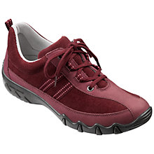Buy Hotter Leanne Lace Up Trainers, Maroon Online at johnlewis.com