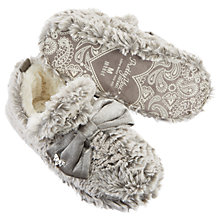 Buy Pretty You London Perrie Bow Bootie Slippers, Grey Online at johnlewis.com