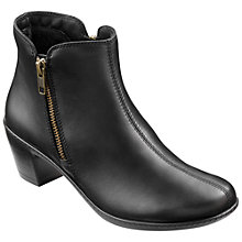 Buy Hotter Samia Double Zip Ankle Boots, Black Online at johnlewis.com