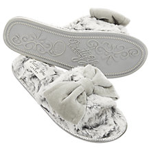 Buy Pretty You London Matilda Bow Mule Slippers, Grey Online at johnlewis.com