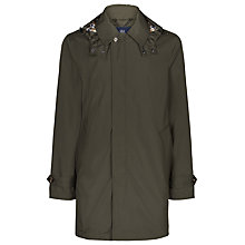 Buy Aquascutum Clifton Showerproof Coat, Military Green Online at johnlewis.com