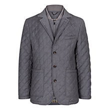 Buy Aquascutum Forest Quilted Blazer Jacket, Grey Online at johnlewis.com