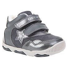 Buy Geox Children's B Balu Double Riptape Shoes, Grey Online at johnlewis.com