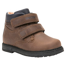 Buy Geox Children's B Glimmer Double Riptape Boots, Brown Online at johnlewis.com