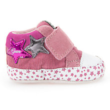 Buy Geox Children's Ian Riptape Booties, Pink Online at johnlewis.com