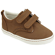 Buy John Lewis Children's Jude Brogue Trainers, Brown Online at johnlewis.com