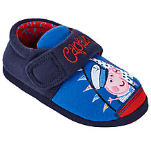 Buy Peppa Pig Captain George Children's Slippers, Blue Online at johnlewis.com
