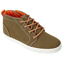 Buy John Lewis Children's Jimmy Mid Top Shoes, Khaki Online at johnlewis.com