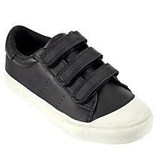 Buy John Lewis Children's Marco Riptape Trainers, Black Online at johnlewis.com
